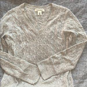 Banana Republic 100% cashmere cable sweater